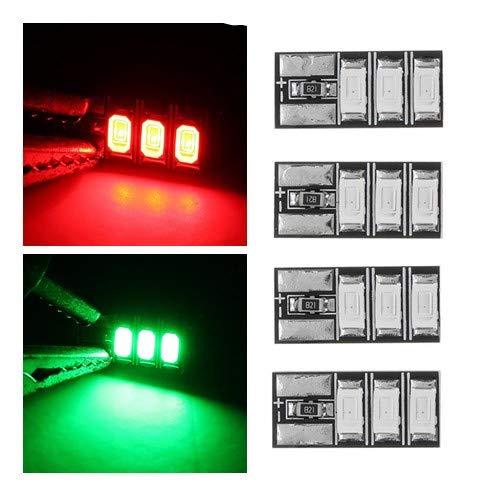 Xuba 4pz 4–6s mini led luce rosso verde per rc drone fpv racing frame kit–verde regalo di compleanno natale regalo per bambini