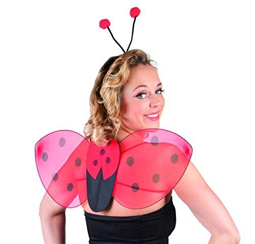 Boland 52853 - Kostümset Marienkäfer, Haarreif und (Erwachsene Flügel Marienkäfer)