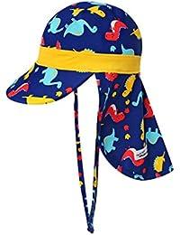 Huayue Baby Sun Hat Sombreros para niñas Protector Solar para niños Gorra de  baño con Cuello 1f5c8b70cc3