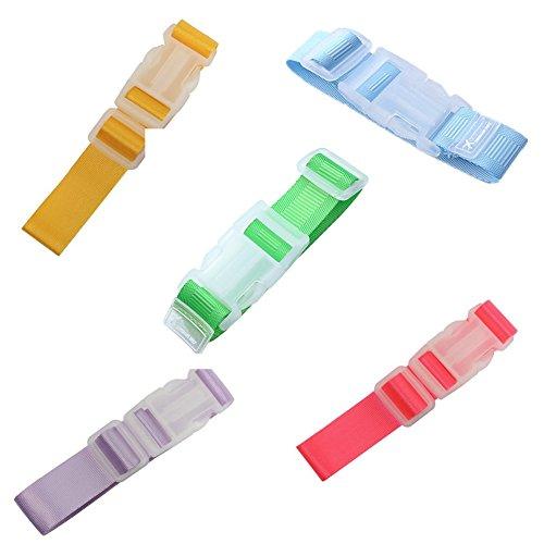 Fully 5 x Gepäckgurt Add-A-Bag Strap Koffergurt Hänger Band Riemen Tasche Hangen Wickeltaschen Mummy Pram Kinderwagen Reisen Belastung 20kg