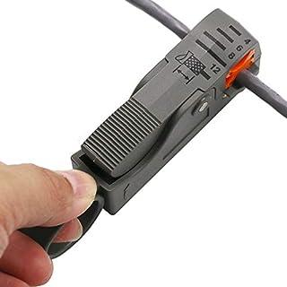 Automatische Abisolierzange Abisolierzange Werkzeuge Doppelklingen Abisolierter Draht Outdoor Handwerkzeuge Multifunktions Praktisches Werkzeug (Black)