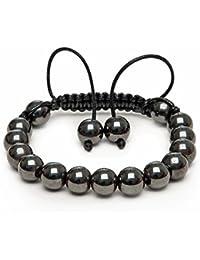 Magnetic Hematite Gemstone Healing Shamballa Bracelet MADE IN BRITAIN