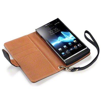 Foto Sony Xperia M4 Aqua Case, Terrapin Portafoglio in pelle per Custodia con porta carte per Sony Xperia M4 per