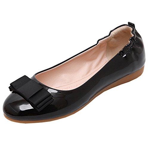 Damen Slip-on Schuhe Damen Mädchen Segelschuhe Atmungsaktiv Schuhe Mädchen Schwarz 40