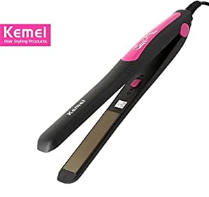 Kemei KM-328 Professional Hair Straightener (Pink)