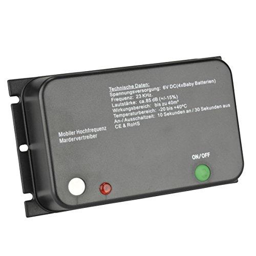 Unitec 41054 Mardervertreiber, Ultraschall, Batteriebetrieben