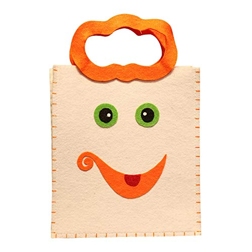 Zucker Candy Kostüm - Hunpta@ Halloween Nette DIY Nonwovens Candy Bag Paket Kinder Party Lagerung Zucker Halloween Smile Kürbis Tasche Kids Candy Bag Kinder Tasche Halloween Stofftaschen Geschenktachen (A)