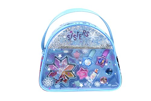 Markwins Frozen Snow Magic Beauty Tasche enthält Kinderschminke, Ringe und Haarclips im Anna & Elsa-Design (Makeup Anna Frozen)