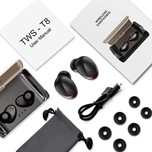 HolyHigh Bluetooth Kopfhörer Kabellos In Ear Sport Joggen Ohrhörer Bluetooth 5.0 mit 3000mAh Batterie 120 Stunden Spielzeit IPX6 Wasserdicht Mikrofon für iOS Android Samsung Huawei HTC - 8
