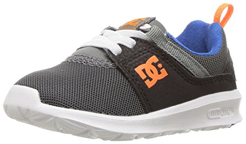 DC Heathrow Casual Skate Shoe (Toddler/Little Kid/Big Kid), Black/Red, 1.5 M US Little Kid Grey/Blue