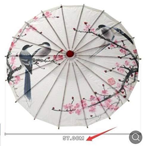 AJIAO Paraguas Paraguas Chino Papel aceitado Lluvia
