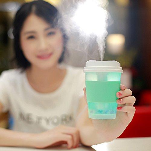 Mini Milch Cups Aroma LED Aroma Diffuser Luftbefeuchter Ultraschall Oil Düfte Humidifier Aromatherapie Ätherischesöl Vernebler LED Lichter Grain Home verstellbarer Nebel Modus Luftreiniger -