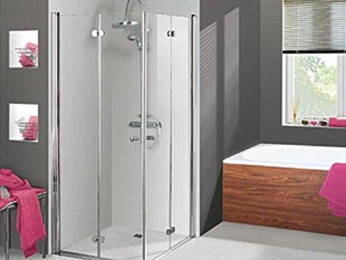Breuer Elana, Komfort Drehfalt-Diagonal-Einstieg 80cm 4-teilig, Versandbereit in 72 Stunden 1655001001014