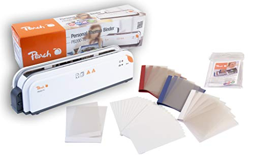 Peach PB200-70 Thermobindegerät DIN-A4 und Photo Combibox  Testsieger*   Schnell Startklar   nur 1 min. Bindezeit   einfachstes und Schnellstes Bindesystem