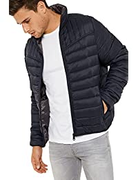 e7167ea02e27 Threadbare Mens Mongrel Stand Designer Funnel Neck Quilted Jacket