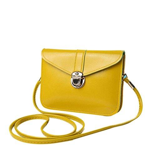 Taschen Damen,Frauen Handtasche Tasche Leder Schultertasche Schulter Messenger Phone Bag LMMVP (G) (Mode-taschen Womens)