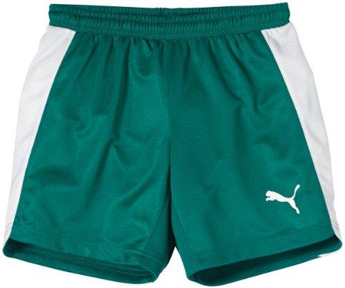 PUMA Kinder Evospeed Indoor Shorts, Team Green/White, 128