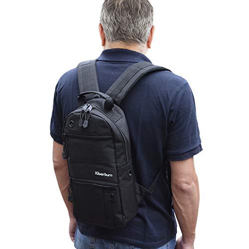 iGuerburn Sauerstofftank Rucksack | Sauerstoffflaschen-Rucksack | O2 Sauerstoff Tank Tasche | Träger für Größe M2, A / M4, ML6, B / M6, M7, C / M9 -Zylinder (Schwarz) für Sauerstoffpatienten -