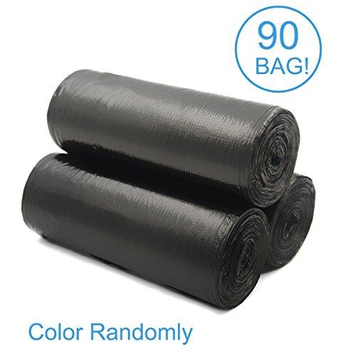 ackmond 15L handle-tie trasparente piccolo sacchetto per rifiuti cestino della spazzatura Bidone Immondizia Sacchetti (90), colore: nero