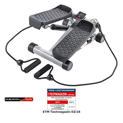 PEARL Sports Stepper: Ministepper mit Expander und Trainingscomputer (Mini Stepper)