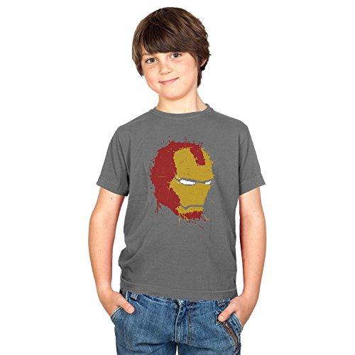NERDO - Iron Splash - Kinder T-Shirt, Größe L, grau
