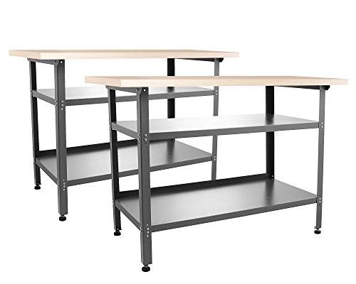 Ondis24 2x Montagewerkbank TÜV/GS, Werkstatteinrichtung Werkstatt Werkbank Werktisch