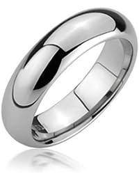 c8973aef4652 Bling Jewelry Unisex cómodo Anillo de Bodas de tungsteno Banda 5mm