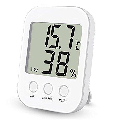 Thermo-Hygrometer, YiCutte Digital Innen Feuchtigkeits und Temperatur Monitor mit großem Bildschirm und Max / Min Aufzeichnungen (HM04)