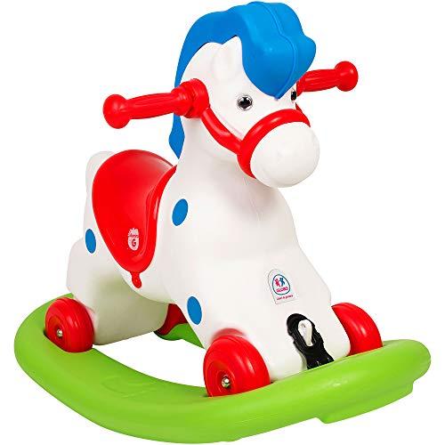 Globo Juguetes Globo-516736,5x 51x 77cm 2-in-1Vitamina _ G diseño de Caballo balancín y Ride On Toy