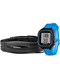 Garmin Forerunner 25 Bundle with Heart Rate Monitor Large - Black and Red Blue/Black Large