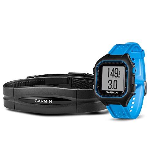 Garmin Forerunner 25Paket mit Herzfrequenz Monitor (groß)-Schwarz und Blau - Garmin Gps-herzfrequenz-monitor