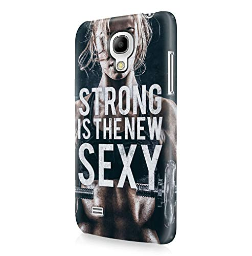 Maceste Gym Strong is The New Sexy Kompatibel mit Samsung Galaxy S4 Mini SnapOn Hard Plastic Phone Protective Fall Handyhülle Case Cover