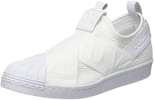 adidas Damen Superstar Slip-on Fitnessschuhe, Weiß (Ftwbla/Ftwbla/Negbas 000), 40 2/3 EU