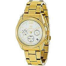 Reloj Marea Unisex,Multifunción, Calendario caja y brazalete dorado