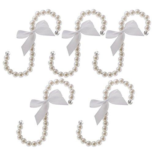 Perle Kleiderbügel Tasche Halter Hacken - Weiß 5Pcs (Baby-boutiquen Online)