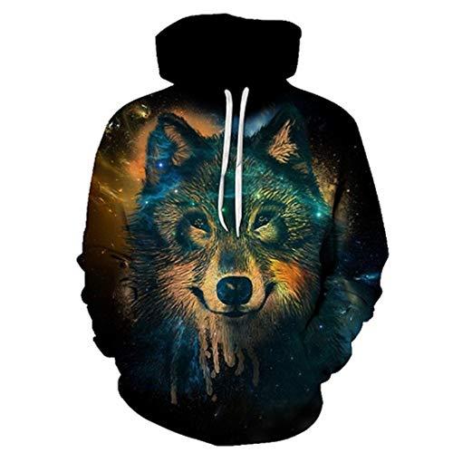 Wolf Eagle Hoodies Herren Herren Kleidung Cloud Pocket Tier Hoddie Sweatshirt LMWY-380 XL Eagle Herren Hoodie