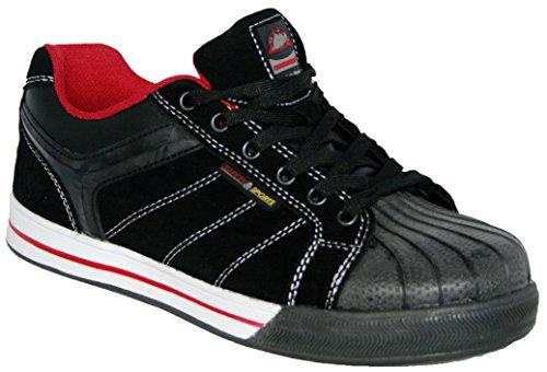 Groundwork Gr42 N, Chaussures de sécurité mixte adulte Black/Red