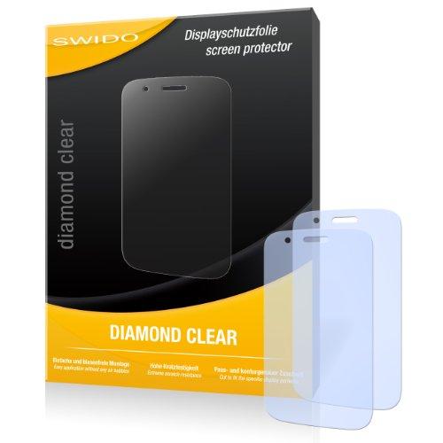 SWIDO 2 x Bildschirmschutzfolie Wiko Ozzy Schutzfolie Folie DiamondClear unsichtbar
