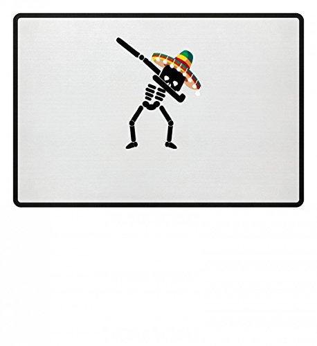 Dabbing Skelett Sombrero Cinco De Mayo Dab Halloween- Schlichtes Und Witziges Design - Fußmatte