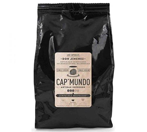 Cap Mundo Don Jimenez 50 Kapseln kompatibel Nespresso - Außergewöhnlicher - 100% Arabica-Kaffee der Dominikanischen Republik