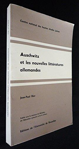 Auschwitz et les nouvelles littératures allemandes