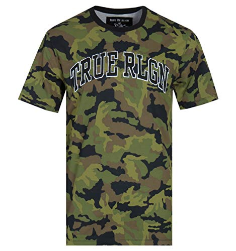 True Religion Kurzärmliges T-Shirt mit Camo-Print