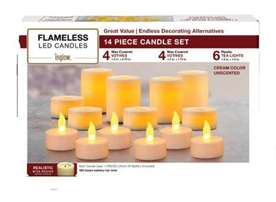 NORTHERN INTERNATIONAL INC - Flameless Candles, 14-Pc. Set (Northern International-kerze)