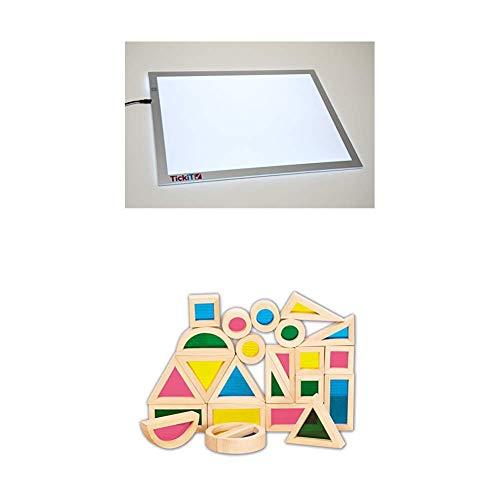 TickiT 73048 Panel de luz de tamaño A2 +  TickiT 73275...