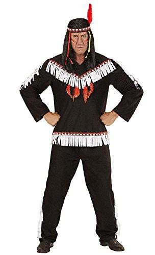 Widmann 06722 - Erwachsenenkostüm Indianer, Kasack, Hose und -