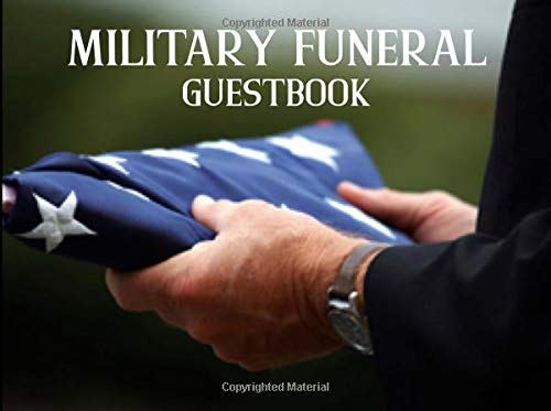 Military Funeral Guestbook: American Flag Party Supplies Decorations Event Signing Log Keepsake - 8.25