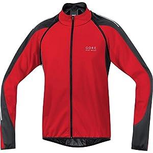 Gore Bike Wear Phantom 2.0 Windstopper Soft Shell - Chaqueta 3 en 1 para Ciclista de Carretera, Hombre, Rojo/Negro, M