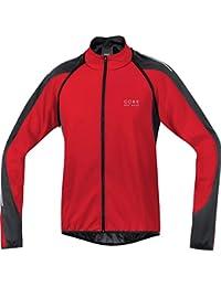 GORE BIKE WEAR-Hombre - Chaqueta de ciclismo Phantom 2.0 Windstopper Soft Shell, color rojo / negro, talla XXL