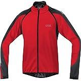 GORE BIKE WEAR-Hombre - Chaqueta de ciclismo Phantom 2.0 Windstopper Soft Shell, color rojo / negro, talla XL