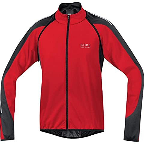 Gore Bike Wear JWPHAM359907 Giacca Uomo Ciclismo su strada, 3 in 1, GORE WINDSTOPPER Soft Shell, PHANTOM 2.0, Taglia XXL, nero/rosso - Mens Sport Bike